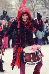 Drummer Girl (pixelcraftstudio) Tags: winter snow canada canon canal ottawa 100mm ncc winterwonderland winterlude skateway winterlude2014