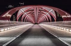 Calgary Peace Bridge (Scott Martin Calgary) Tags: bridge canada calgary ice alberta bowriver peacebridge