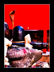 Shiva Linga !!!! (Rambonp love's all creatures of Universe.) Tags: wallpaper sun silhouette yellow canon landscape paradise god idol shiva mahesh trishul haridwar shanker bholenath mahadev uttaranchalpradesh incredibleindia mahashivratri india mahashi bholeshankar mahakaal triloki takshashila indiaempowers indiaimpressions2011