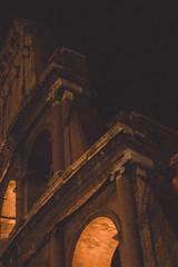 Roma, Italia (YYNTL) Tags: old city travel italien family vacation italy holiday rome roma night photography nikon europe italia nacht forum colosseum chiesa avond oud notte itali colosseo senatuspopulusqueromanus oudheid