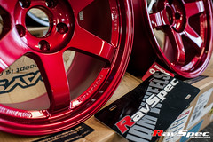 """VOLK Racing TE37SL 18x9.5 +22 Hyper Red • <a style=""""font-size:0.8em;"""" href=""""http://www.flickr.com/photos/64399356@N08/12914167004/"""" target=""""_blank"""">View on Flickr</a>"""