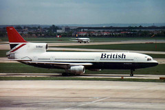 1974 Lockheed L-1011 TriStar 100 G-BBAE - British Airways - London Heathrow Airport 1982 (anorakin) Tags: 1974 1982 lockheed britishairways tristar l1011 londonheathrowairport gbbae