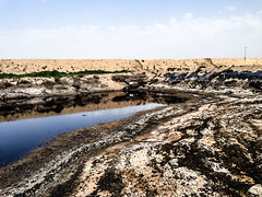Mud Pit, Halfaya Oilfield, Iraq