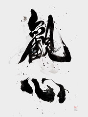 觀心viewing of mind (Lok Ng) Tags: abstract art illustration ink design graphicdesign artwork chinese exhibition ng calligraphy typo inc lok awt