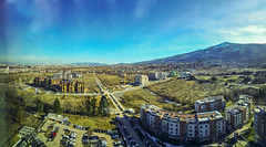 Vitosha and newly constructed buildings (saromon1989) Tags: mountain blue sky landscape panorama sofia bulgaria vitosha българия
