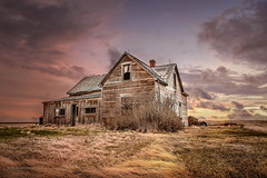 Evening Waltz (DeVaughnSquire) Tags: abandoned forgotten prairies canada country landscape scenic wood old vintage rustic sky