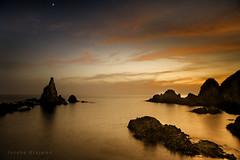 Almeria  España (Joseba Grajales) Tags: almeria españa arrecifedelassirenas atardecer sunset mar sea largaexposición longexposure landscape paisaje rocas rocks agua water nikon nikond750