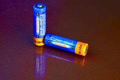 Two Auld Cells (igd65) Tags: macromondays orangeandblue batteries cybershot sony dscp52
