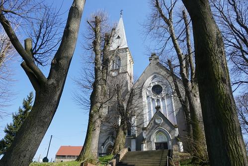 Kościół św. Jana Nepomucena w Stolcu od zachodu