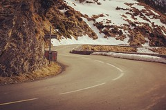 Way up to the Fun (mathieuRivier) Tags: winter road snow wayup way up mountain france gourette europe travel vintage effect