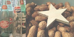 76/365 kitchen views (SarahLaBu) Tags: bottles flaschen drpepper pepsi 7up peanuts erdnüsse star stern diptych diptychon 365the2017edition 3652017 day76365 17mar17 iphone6s