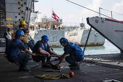 170224-N-JH293-032 (U.S. Pacific Fleet) Tags: ussgb greenbay ussgreenbay lpd20 japan sasebo bhr esg ctf76 forwarddeployed us7thfleet pacific ocean water navy ship sailors wisconsin packers vmm262 31stmeu nbu7 cobragold cobragold2017 sattahip thailand jpn