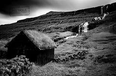 Saksun in B&W - Faroe Islands (@PAkDocK / www.pakdock.com) Tags: adventure cliff clouds faroe faroese feroe grass grassland green island islands islas lake landmark landscape nature ocean outdoor outdoors pakdock panorama panoramic planet sea sunny travel village wanderlust roof black white waterfall long exposure saksun house monochrome silk