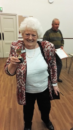 Mrs Beryl Parker BCAv receives first in the Handicraft Section at the recent BiB Horticultural Meeting on March 3rd