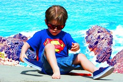 don't need (Leonard J Matthews) Tags: superman boy lad child shoes mythoto