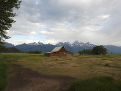 moulton barn (cdavid laurier) Tags: barn landscape sunrise wild mountains clouds grass moultonbarn usa nature