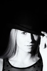 You can leave your hat on.. (debth3stylist) Tags: ©deborahsmith bowlerhat shinysmoothair beauty