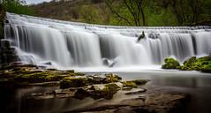 Monsal Trail. (Ian Emerson) Tags: derbyshire monsal waterfall weir falls outdoor landscape canon hoya longexposure rocks moss trees