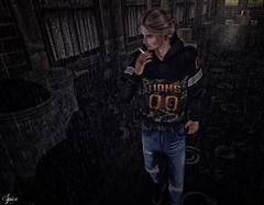 Spice wearing Outlier Revenge Jersey Hoodie CamoPacific and 510s Ripped Jeans Blue -K&S- Break poses @ MOM (Two Too Fashion) Tags: secondlife secondlifemodel secondlifefashion secondlifeblogger menonlymonthly outlier revengejerseyhoodie 510srippedjeans ksposes breakposespack1 mom chic chicoutfit casual casualchic urban urbanstyle fashion fashionmaleoutfit malemodel malefashion maleoutfit