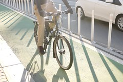 bike lanes and crosswalks (Lynn Friedman) Tags: marketstreet 94103 lateafternoon outside nobody shadows transportation sanfrancisco urban