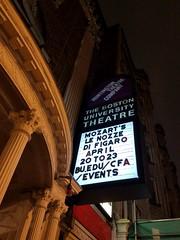 4-21-2017: My first opera; I loved it! Boston, MA