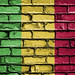 National Flag of Mali on a Brick Wall