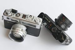 Spidermancam / Yashica Electro 35 GT + GSN Rangefinder (rainer.marx) Tags: yashica electro kleinbild 35mm analog film lumix leica fz1000 panasonic rangefinder messsucher