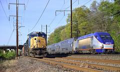 Meet At Landover (DJ Witty) Tags: csx railroad rr train dieselelectric freight locomotive sd70ac amtrak nikon d610 acs64 citysprinter seimens electriclocomotive marc hh8