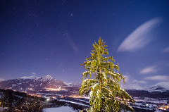 Starry Orcières (seedosip) Tags: nikond7000 france ocieres mountains alps snow starrynight longexposure