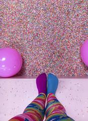 Museum Of Ice Cream - Los Angeles 2017 (evaxebra) Tags: museum ice cream icecream moic museumoficecream art pink installation losangeles la downtown 7th blackmilk leggings rainbow sprinkles sprinkle pool