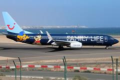G-FDZG (GH@BHD) Tags: gfdzg boeing 737 737800 b737 b738 by tom tui tuiairways thomsonairways ace gcrr arrecifeairport arrecife lanzarote logojet specialcolours familylife airliner aircraft aviation