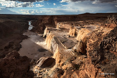 The Grand Falls (aryanphotography) Tags: illuminate waterfalls anthony landscape canyon water erosion texture ryan hdr dynamic grandfalls littlecoloradoriver river chocolatefalls scenic sky outdoors arizona clouds anthonyrryan nature anthonyryan