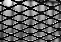(janetbland) Tags: canoneos macro bokeh metallic metal grid lines pattern texture monochrome blackandwhite