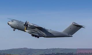 ZM403 RAF Airbus A400M Atlas C.1 @ Exeter Airport, Devon.