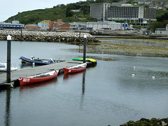 We couldn't go rowing..... someone pulled the plug out.... low tide... (Sue - happy sparrow) Tags: portland portlandmarina marina lowtide rowing boats port dorset