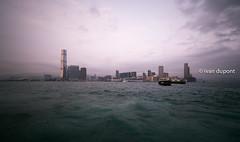 Hong Kong Bay, SAR of China (monsieur I) Tags: cheap china city cityscape clouds cloudy hongkong hongkongbay hongkongisland hongkongtransport monsieuri publictransport skyscrapers starferry traditional transportation travel urban water world