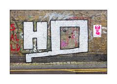 Street Art (HQ ?), East London, England. (Joseph O'Malley64) Tags: hq streetart urbanart publicart freeart graffiti eastlondon eastend london england uk britain british greatbritain art artist artistry artwork brickwork bricksmortar cement pointing pasteup wheatpaste paper print mixedmedia freehandstencils tags cobblestones granitekerbing tarmac speedhump transitionpoint singleyellowline doubleyellowlines parkingrestrictions noparkingatanytime urban urbanlandscape aerosol cans spray paint incline gradient fujix accuracyprecision