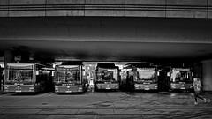 bus stop (heinzkren) Tags: remise verkehr bus donauzentrum kagran wien vienna wienerlinien traffic man öffis station haltestelle stop busstop travel reie bahnhof schwarzweis blackandwhite monochrome biancoetnero blancetnoir ricoh street streetfoto läuferin sport brücke bridge ubahnbrücke ubahn urban