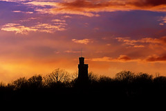 Silhouette (Cederquist Christoffer) Tags: silhouette urbansunset watertower moody skypoetry slottskogen park canon70200f4 canoneos60d cloudy gothenburg sweden cederquist