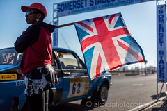 Rally Flag start (PKpics1) Tags: rally somerset somersetstages exmoor cars track dust dirt