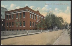 St Aloysius - Boy's school - Vine St Nashua NH (Gone Churching) Tags: st louis aloysius de gonzaga nashua nh