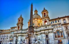 Piazza Navona (giannipiras555) Tags: piazza fontana chiesa obelisco cupola roma