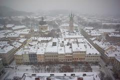 First Heavy Snowfall in Lviv (tarmo888) Tags: sel16f28 sonyalpha sonyα nex7 geotaggedphoto geosetter sooc photoimage фотоfoto year2016 aerialview snow lumi снег ukraine україна ukrayina украи́на украина lviv lwów lvov lemberg львів львов leopolis lwow unesco medieval wow amazing stunning