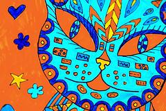 Macro Mondays - Orange and blue (crafty1tutu (Ann)) Tags: macromondays orangeandblue blueandorange blue orange colourful colour adultcolouringinbook crafty1tutu canon1dx canon180mm35lseriesmacrolens anncameron challenge monday3rdapril2017