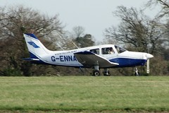 G-ENNA (IndiaEcho Photography) Tags: genna pa28 london biggin hill airport airfield egkb bqh bromley civil aircraft aeroplane aviation canon eos 1000d kent england