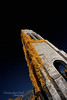 Obelisk IR Orange Blue at Memorial Park Cemetery 2 in Edmond, OK - 20160820CNP (Christopher Neel Photography) Tags: obelisk memorial grave symbol edmond oklahoma tourism traveling christopher neel photography fine art otherworldly sureal life pixel lifepixel architecture cemetery dead infrared orange yellow blue color