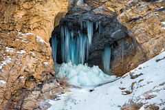 Blue Icicles (Sid's Corner) Tags: green mountains valley ladakh leh india incredibleindia northindia chadar chadartrek river zanskar zanskarriver frozenriver ice snow snowscape snowcapped blue water freeze frozen trek landscapes landscape nature natureaddict nationalgeographic ngc flickraward nikon nikond800 schoksi schoksiphotography scenery mountain yellow bluesky icicles