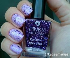 Glitter Broadway Violet (INI Nail) (katiaemanias) Tags: ininail esmalte esmaltes katiaemanias glitter unhas unha importado