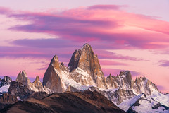 Portrait of a Monster, Mt Fitz Roy (Foto Fresh) Tags: patagonia argentina chile elchaltan elcalafate lagopehoe sunrise sunset dawn landscape photoshop sony a7r2 emount wideangle 2470 70200 1635 exposureblending luminositymask colbybrownphotography torresdelpaine nationalpark losglacieres cerrotorre pinkhues detail mtfitzroy fall autumn colorful colors