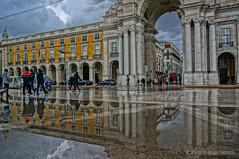 Falling deep... (PHOTOGRAFIEBER) Tags: portugal roadtrip lisboa lisbon hdr architecture architektur reflection spiegelung praca do comercio